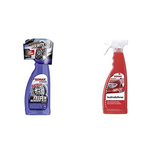 SONAX Xtreme Felgenreiniger Plus (750 ml) effiziente und säurefreie Reinigung & InsektenEntferner (750 ml) entfernung von Insektenresten auf Glas-, Lack-, Chrom- und Kunststoffoberflächen