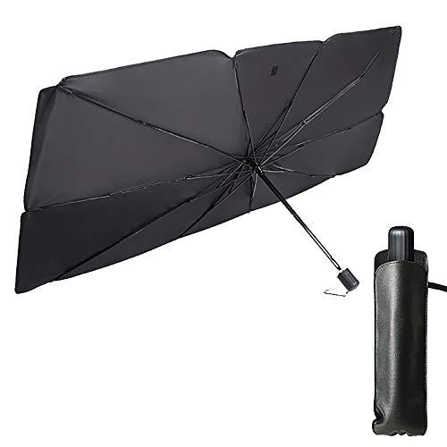 Parasol para parabrisas de coche, parasol plegable, cubierta para ventana frontal, impermeable, protección solar UV, paraguas reflector para coche, vehículo o camión