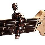 Bulufree De Una Sola Mano Cambio R/ápido Capo Aleaci/ón de Aluminio para Ac/ústica de 6 Cuerdas Folk Cl/ásico Guitarra El/éctrica Ukelele