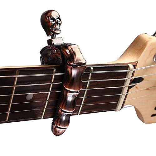 HUVE Cráneo Capos Sintonizador De Guitarra Capo De Metal De