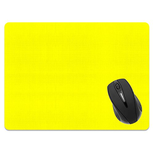 Extra Large (X-Large) Size Non-Slip Rectangle Mousepad, FINCIBO Solid Bright Yellow Mouse Pad for Home, Office and Gaming Desk