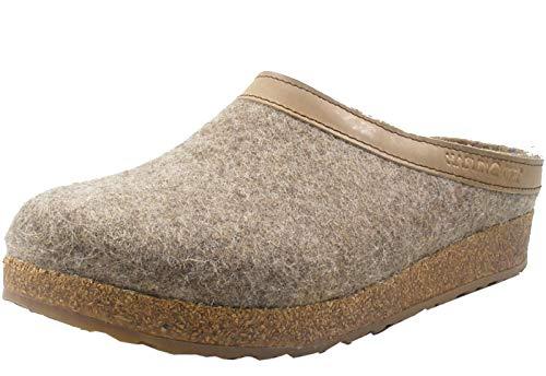 HAFLINGER Grizzly Torben 713001 Damen Herren Hausschuhe Pantoffeln Wolle, Größe:41 EU, Farbe:Beige