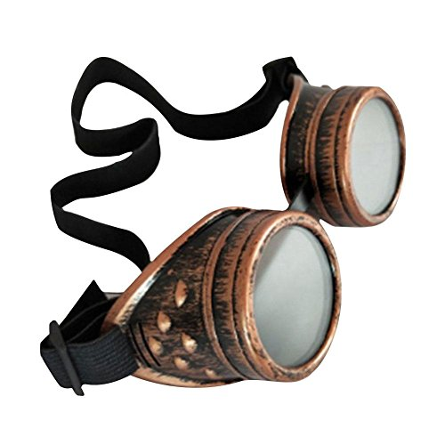 iBàste Steampunk-Retro-Brillenkleidung mit Reitschutz-Okularen Retro Vintage Victorian Steampunk Reitbrille Brille Schutz Okulare Schweißen Cyber Punk Gothic Cosplay