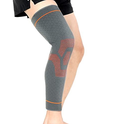 kerryshop Rodilleras Compresión de Tejer alargamiento de la Rodilla de la Rodilla Calentador de la Pierna de Seguridad de la Pierna del Muslo de la Pierna del Muslo Protege Las Rodillas Deportivas
