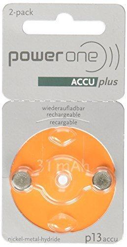 Powerone Accu Plus Größe 13Wiederaufladbare Hörgerät Akkus von Hörgerätebatterie Club