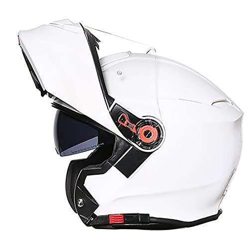 Casco Moto Modular Flip Up Casco de Cara Completa ECE Homologado con Doble Visera Casco de Motocicleta Casco Moto Para Mujer e Hombre Medio Casco de Scooter de Crucero D,XXXL=63~64cm