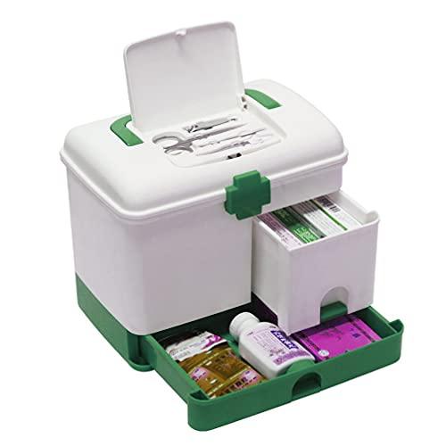 TOYANDONA Medicina Caso Pílula Kit De Emergência Da Família De Armazenamento Caixa De Plástico Organizador Organizador de Armazenamento Doméstico Caixa de Primeiros Socorros