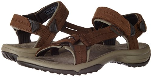 Teva Women's Terra FI LITE Leather Sandal, Brown, 10 Medium US