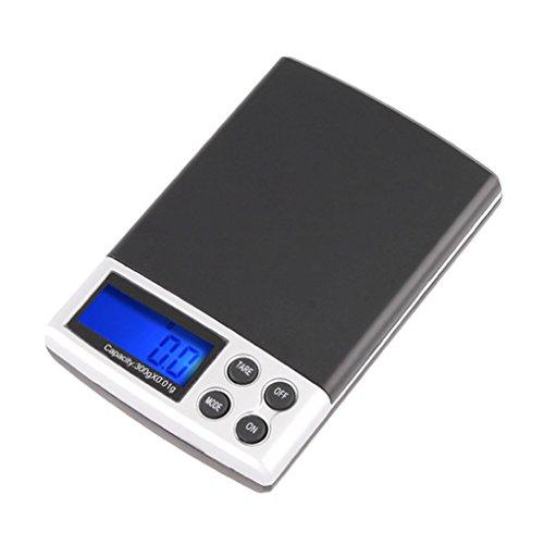 Floridivy 300g / 0.01g LCD Digital elektronische weegschaal pocket sieraden schaal 300g / 0,01 g weegschaal Pocket Sieraden Scale weegschaal Scales