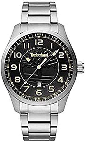 Timberland Reloj Analógico para Hombre de Cuarzo con Correa en Acero Inoxidable 4895148698365