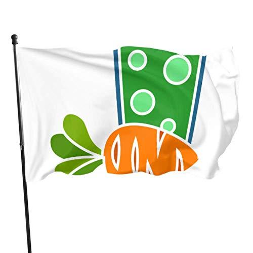 Vicky Juego de banderas de decoración de zanahoria coloridas para adultos, 3 x 5 pies, colores vibrantes, calidad poliéster y ojales de latón
