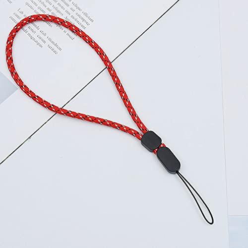 FYMIJJ Correas para teléfonos móviles Llave USB Cordón Corto Walkie Talkie Ajustable Correa de Mano Cuerda de muñeca Audio Cordón antipérdida, Rojo