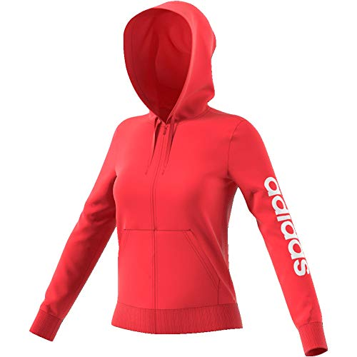 adidas Damen W E LIN FZ HD Sweatshirt, Rojglo, L