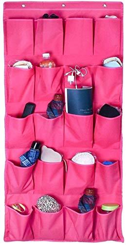 Ranuras de zapato ajustables Organizador Bastidores de zapatos Organizador de zapatos para colgar sobre la puerta de 20 bolsillo de bolsillo Rack Organizador de zapatos Bolsa de suspensión de la peril