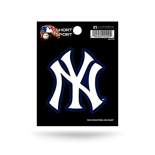 Rico Industries SRT4701 MLB New York Yankees Short Sport Decal,White,3.5' x 4.5'
