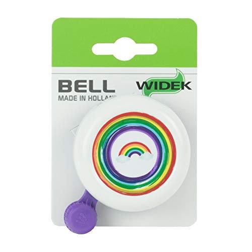 Widek Mädchen HW2060 Regenbogen-Fahrradklingel für Kinder, weiß, Einheitsgröße