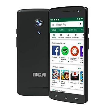 RCA Q2 Android 9.0 Pie 5.0  HD 4G LTE 16GB 8MP 5MP Dual Camera Dual Sim Unlocked Smartphone  Black
