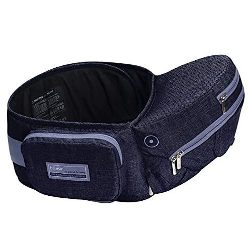Bebamour Portabebé plegable Asiento de cadera Asiento ergonómico para la cintura de...