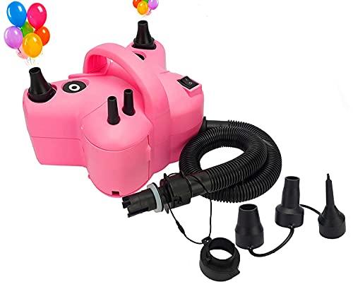 Voniry Bomba de aire multifuncional, ligera y portátil, inflado para globos, camas hinchables, camas flotantes, piscinas, etc.