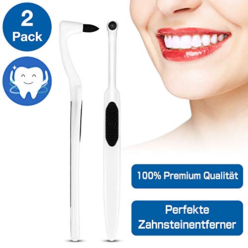 Zahnsteinentferner Zahnsteinentfernung Professionelle Zahnreinigung Interdentalbürsten - für Weisse Zähne, Stain Remover Zahnarztbesteck Entfernt Plaque Verunreinigungen(2-Pack) - MEHRWEG