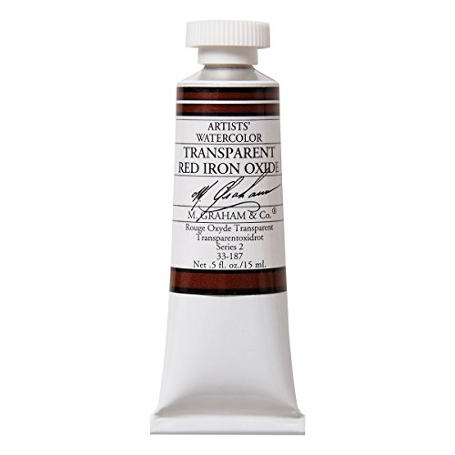 M. Graham 1/2-Ounce Tube Watercolor Paint, Transparent Red Iron Oxide (33-187)