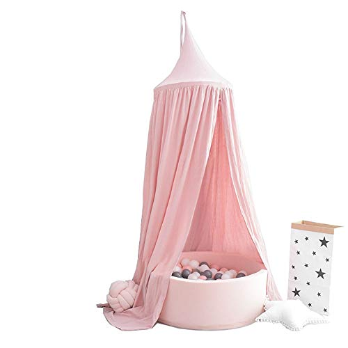 Teepee for Kids Bed Canopy Premium Yarn Play Tent Bedding For Girls Rooms Party And Holidays Decoration Multi-color Optional Toys for Indoor and Outdoor (Color : White, Size : 240x50cm)