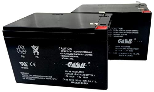 2 Pack 12v 12ah F2 Sealed Lead Acid AGM Rechargeable SLA Deep Cycle Battery