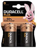 Duracell Plus Power Pack de 2 Piles Alcalines type D