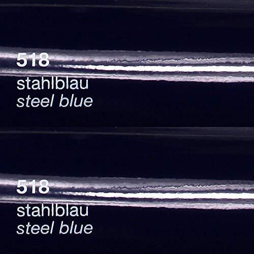 Unbekannt 9,49€/m² Oracal Plotterfolie Glanz 751c 518 Stahlblau 31,5 cm Breite gegossene Plotter Möbel-Folie selbstklebend High Performance cast