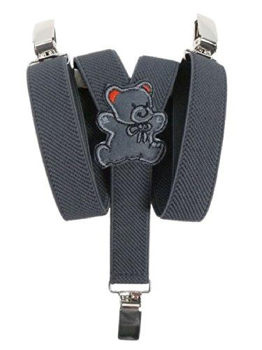 Bretelles entièrement réglable pour Bébés 0-2 ans avec Ours En Peluche conception - Gris