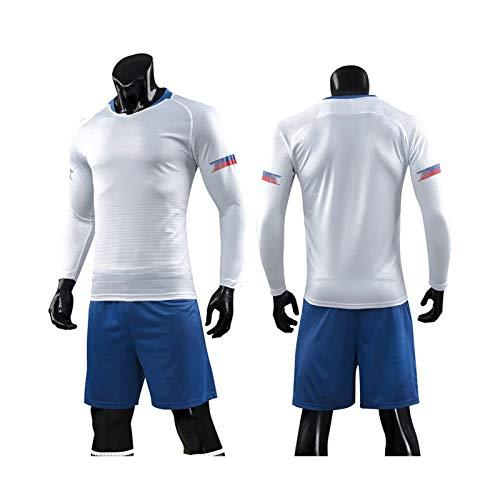 Mikelabo - Conjunto de Entrenamiento de Camiseta de fútbol de Manga Larga para Hombre chándales completos Pantalones de Jogging Sudaderas de Gimnasia Conjunto de Entrenamiento …