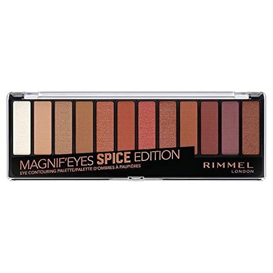略語本物クリック[Rimmel ] リンメルMagnifeyes 12アイシャドウパレットスパイス - Rimmel Magnifeyes 12 Eyeshadow Palette Spice [並行輸入品]