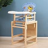 Kombihochstuhl Leicht Umbaubar zur Stuhl-Tisch-Kombination Kinderstuhl mit Sitzgurt Kinderhochstuhl mit Babyaufsatz Geeignet für 7 Monate-6 Jahre alt