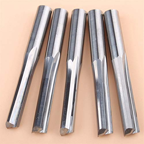 Wnuanjun 5pcs 6 * 32mm Two Flutes Straight Router Bits For Wood CNC Straight Engraving Cutters Carbide Endmills Cutting Mil