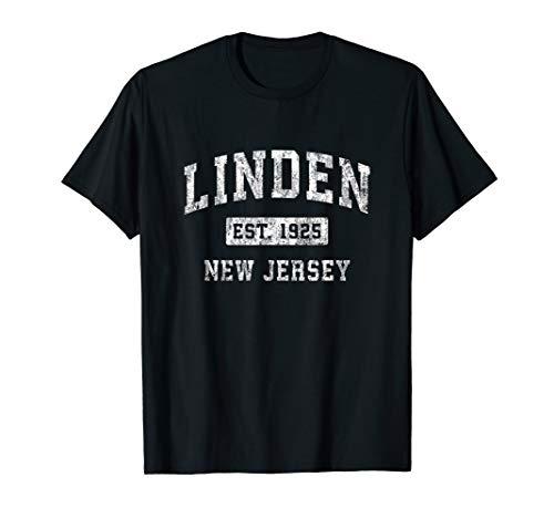 Linden New Jersey NJ Vintage Established Sports Design T-Shirt