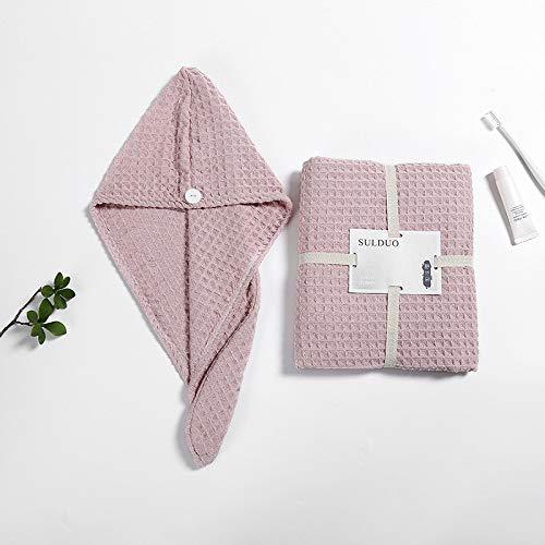 Cuffia per Capelli asciutti Asciugamano da Bagno Cuffia per Capelli asciutti Asciugamano Assorbente in Due Pezzi
