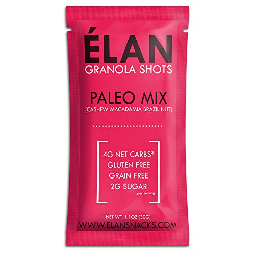 ELAN Low Carb Paleo Granola, Keto Snack Pack To Go - Gluten Free Grain Free Cereal - Healthy...