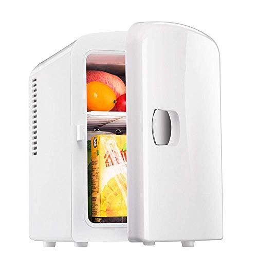 PULLEY Mini refrigerador termoeléctrico portátil de 6 latas y calentador mini refrigerador DC 12 V coche familiar 4 L/4.2 cuartos para dormitorio, oficina o dormitorio
