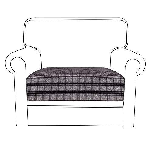 78Henstridge - Funda para cojín de sofá de licra y poliéster, funda elástica protectora de sofá, poliéster, Gris, 1 Seat