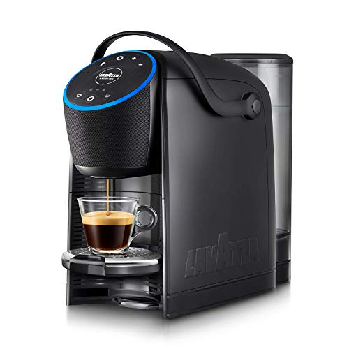 Lavazza A Modo Mio Voicy, cafetera expreso con Alexa integrada y control Smart Home, para cápsulas Lavazza A Modo Mio, color negro