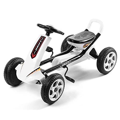 LINQ Niños Cuatro Ruedas Vehículo: Karts para niños, ergonomía, para el Desarrollo del Cerebro y el Entrenamiento de la función física, Blanco (Color : White)