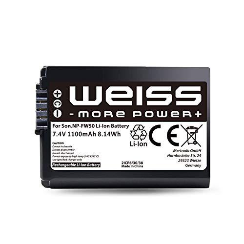 Weiss - Batería de repuesto para Sony Alpha 7/7 ii, 6000/6400, 6500/6300,...