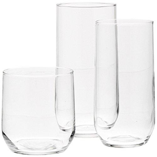 AmazonBasics 18-Piece Glassware Set