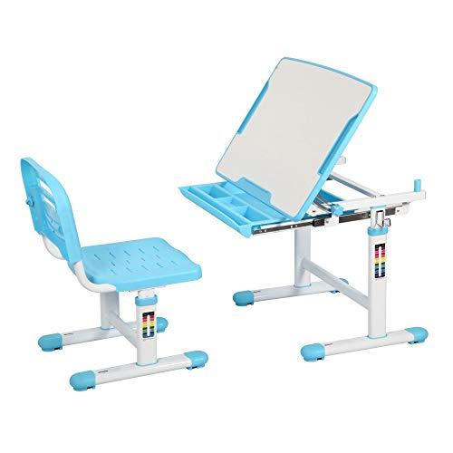 Kids Desk and Chair Set BODI Childrens Desk Height Adjustable School Study Table with Tilt Deskstop, Metal Hook and Storage Drawer for Girls Boys
