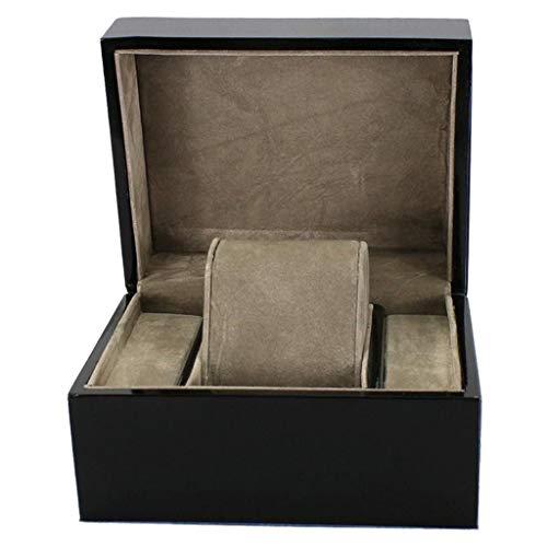 ZHUSHI Caja de Reloj de Madera Negra/Caja de Almohada Tipo Brazalete es una Buena opción para Regalos de cumpleaños y Regalos de Fiesta.