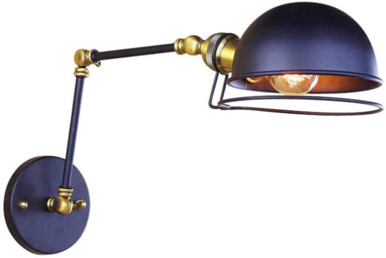 envío gratuito a nivel mundial LSLVKEN Lámpara de Aplique de Parojo Ajustable de Metal Metal Metal Vintage Apliques de Parojo retráctiles Plegables para el Comedor Oficina Dormitorio Dormitorio con zócalo E27 (Color  Negro)  bienvenido a orden