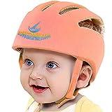Infant Baby Safety Helmet, IULONEE Toddler Adjustable Protective Cap, Children Safety Headguard Harnesses Protection Hat for Running Walking Crawling Safety Helmet for Kids (Orange)