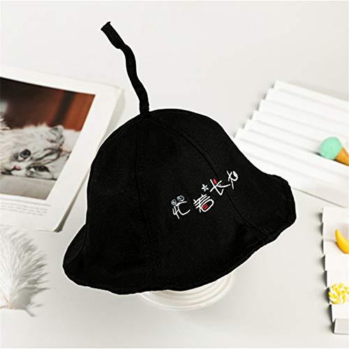 mlpnko Sombrero de Pescador para niños Sombrero de bebé Sombrero de bebé Sombrero de niña al Aire Libre Tapa de Lavabo 1-3 años Ocupado creciendo - Negro 48CM