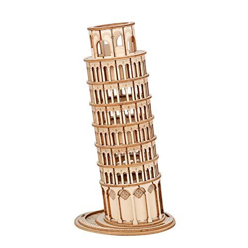Leaning Tower of Pisa 3D Holz Puzzle Spiel Blöcke Spielzeug für Kinder