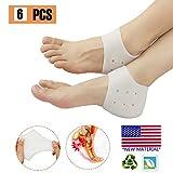 Heel Cups, Plantar Fasciitis Inserts, Heel Pads Cushion Great for Heel Pain, Heal Dry Cracked Heels, Achilles Tendinitis, for Men & Women. (Gel Heel Protectors)